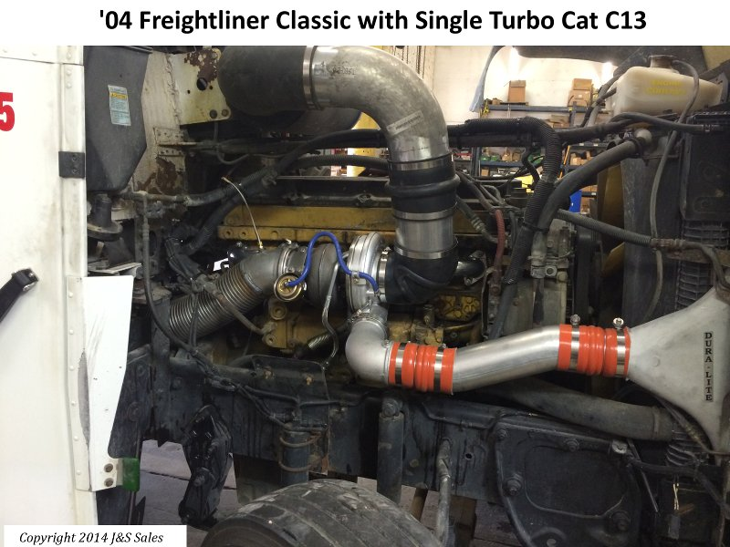 '04 Freightliner Classic with Single Turbo Cat C13