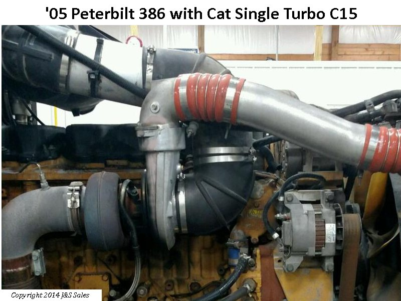 '05 Peterbilt 386 with Cat Single Turbo C15