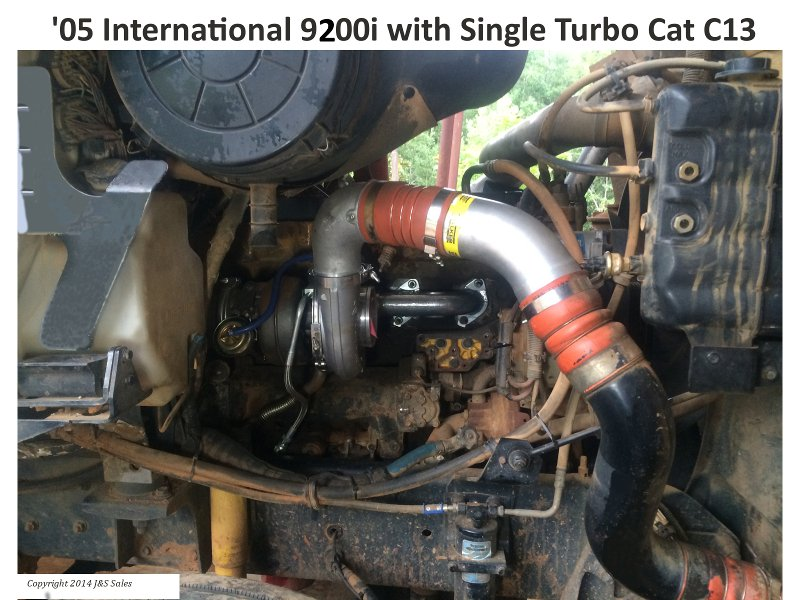 '05 International 9200i with Single Turbo Cat C13