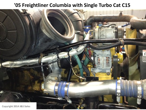 '05 Freightliner Columbia with Single Turbo Cat C15