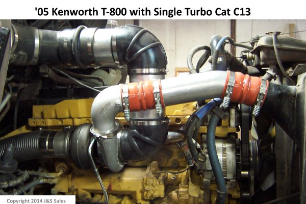 '05 Kenworth t-800 with Single Turbo Cat C13