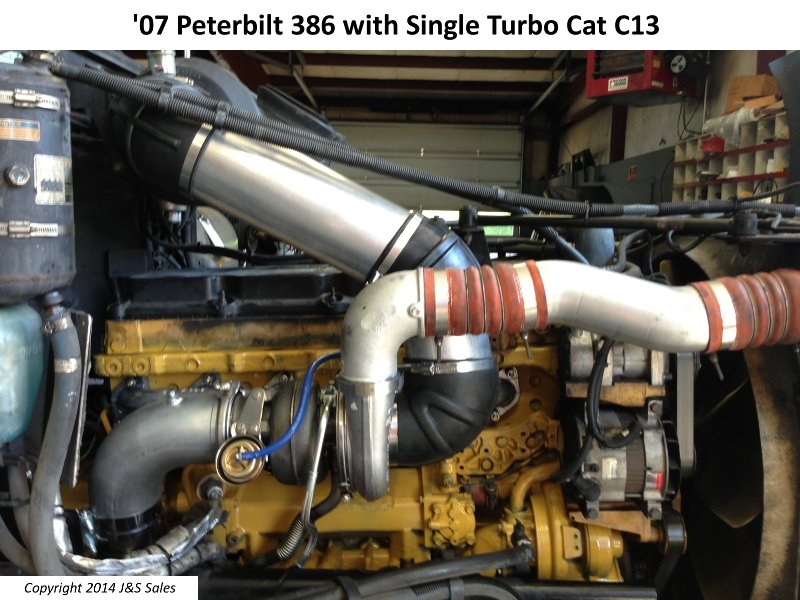 '07 386 Peterbilt Single Turbo Cat C13