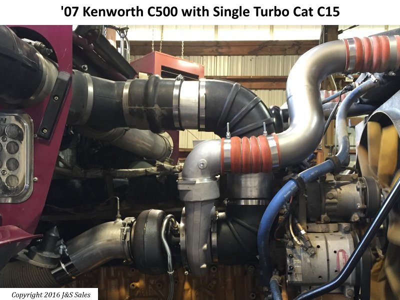 '07 C500 Kenworth Single Turbo Cat C15