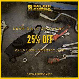 Shop Discount - 25% Off Labour